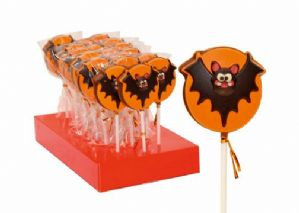 Belgian Milk Chocolate Halloween Bat Lollipop 35g